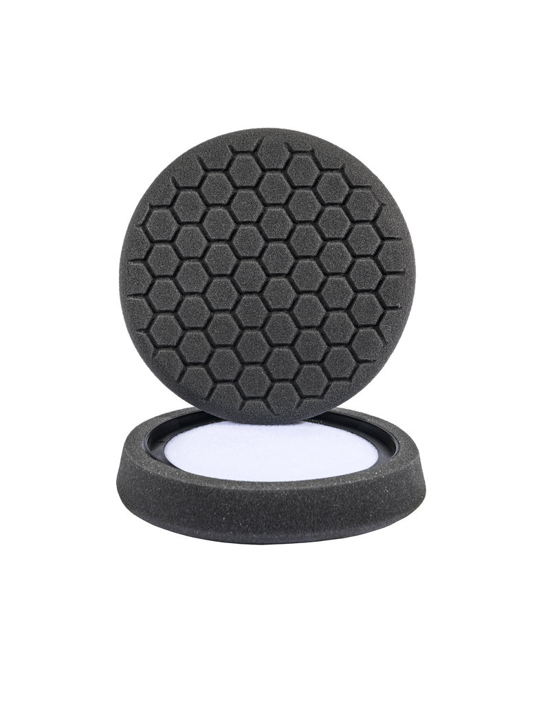 "Hex-Logic BUFX_106HEX 7.5"" ""Self Center""  Hex-Logic Pad -Black Finishing Pad (7.5""Inch)"