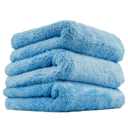 "Chemical Guys MIC35003 Happy Ending Edgeless Microfiber Towel, Blue 16""X16"" (3 Pack)"