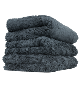 Chemical Guys MIC35703 Happy Ending Edgeless Microfiber Towel Black - (3 Pack)