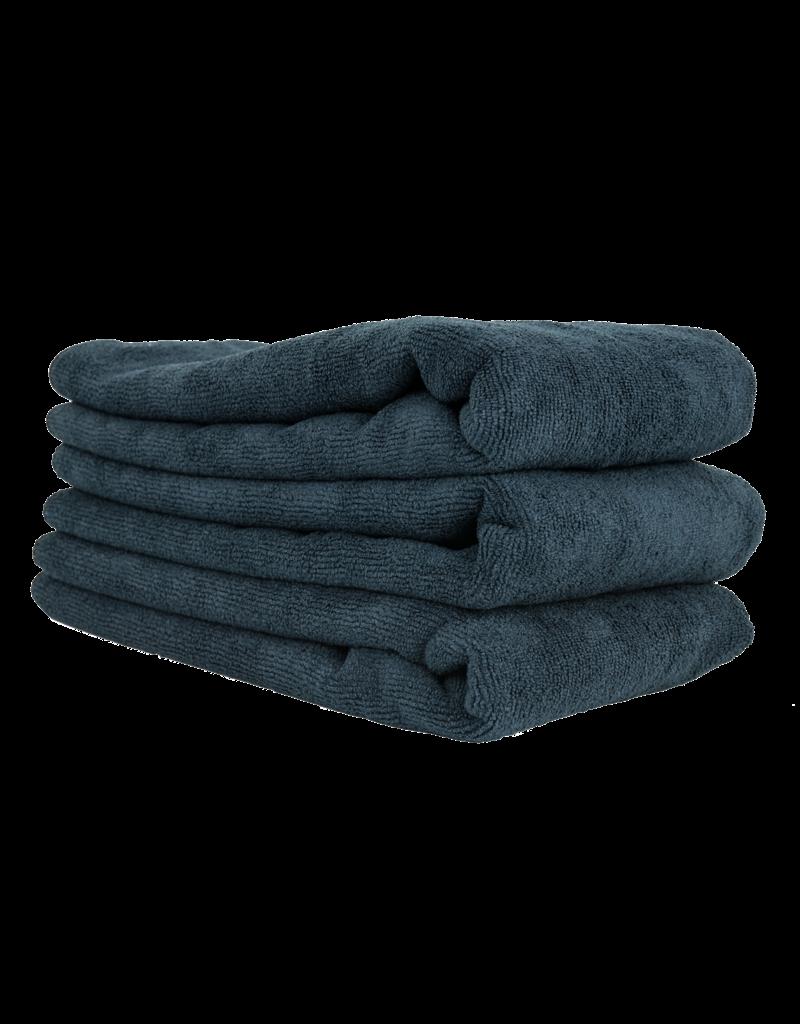 "Chemical Guys MIC36103 Workhorse Black Professional Grade Microfiber Towel, 16"" X 24"" (Rubber/Plastic/Vinyl) (3-Pack)"