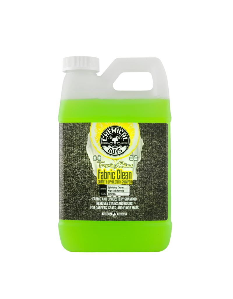 Chemical Guys CWS20364 Foaming Citrus Fabric Clean Carpet & Upholstery Shampoo (64 oz -1/2 Gal)