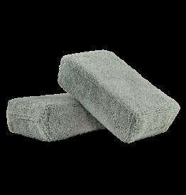 Chemical Guys MIC29502 Gray - Microfiber Applicator Premium Grade  (2 Pack)_x000D_