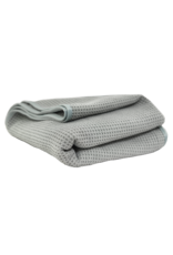 Chemical Guys Grey Matter Silk Edged Waffle Weave Drying Towel