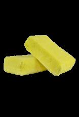 Chemical Guys MIC29902 Yellow - Microfiber Applicator Premium Grade (2 Pack)_x000D_