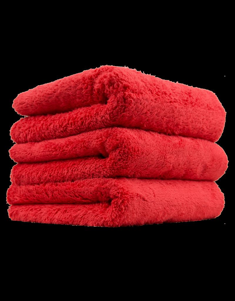 "Chemical Guys MIC35103 Happy Ending Edgeless Microfiber Towel, Red 16""X16"" (3 Pack)"