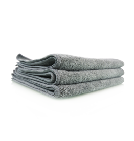 "Chemical Guys MIC35203 Workhorse Gray Professional Grade Microfiber Towel 16""X16"" (Metal) (3 Pack)"