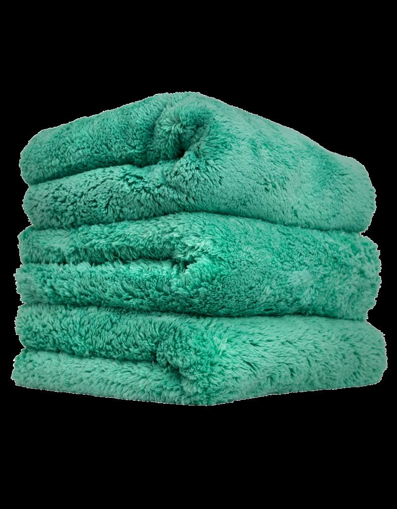 Chemical Guys MIC35603 Happy Ending Edgeless Microfiber Towel Green- (3 Pack)