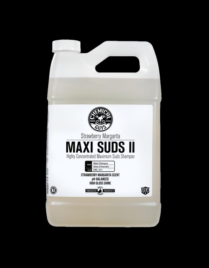 Chemical Guys CWS_1011 Maxi-Suds II: Super Suds Shampoo- Strawberry Clear - Superior Surface Shampoo (1 Gal)