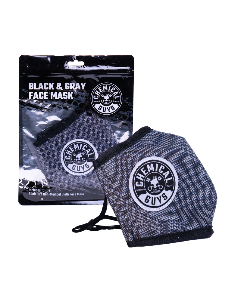 Chemical Guys Black & Grey Cotton Face Mask (Non-Medical)