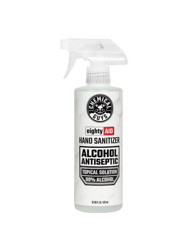 Chemical Guys eightyAID Hand Sanitizer 80% Alcohol Antiseptic Solution