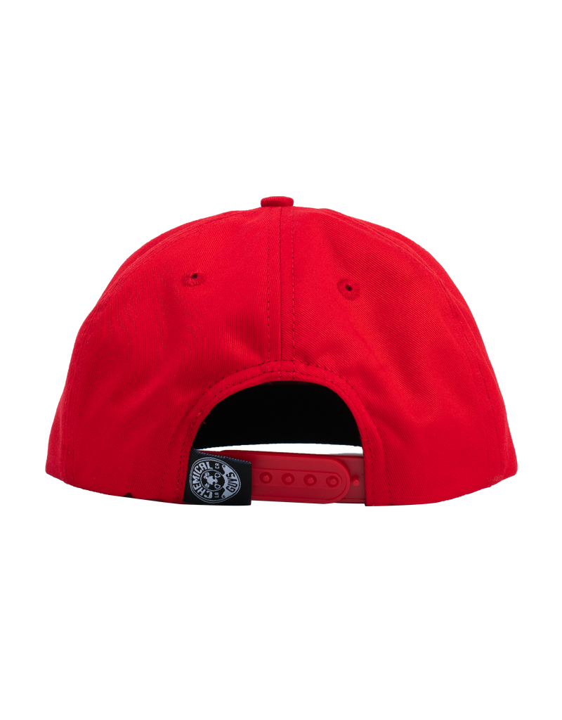 Chemical Guys Snap-It-Back Red Script Hat