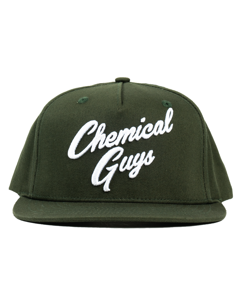 Chemical Guys Snap-It-Back Olive Green Script Hat