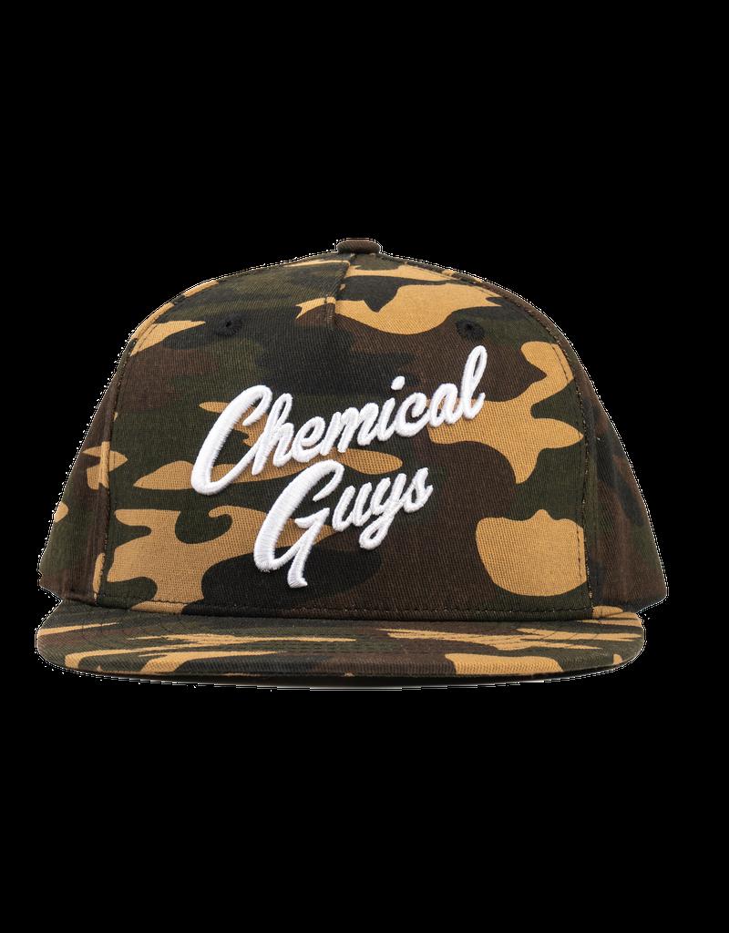 Chemical Guys Snap-It-Back Camo Script Hat