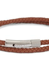Hugo Boss Hugo Boss Double-Wrap Braided Leather Bracelet