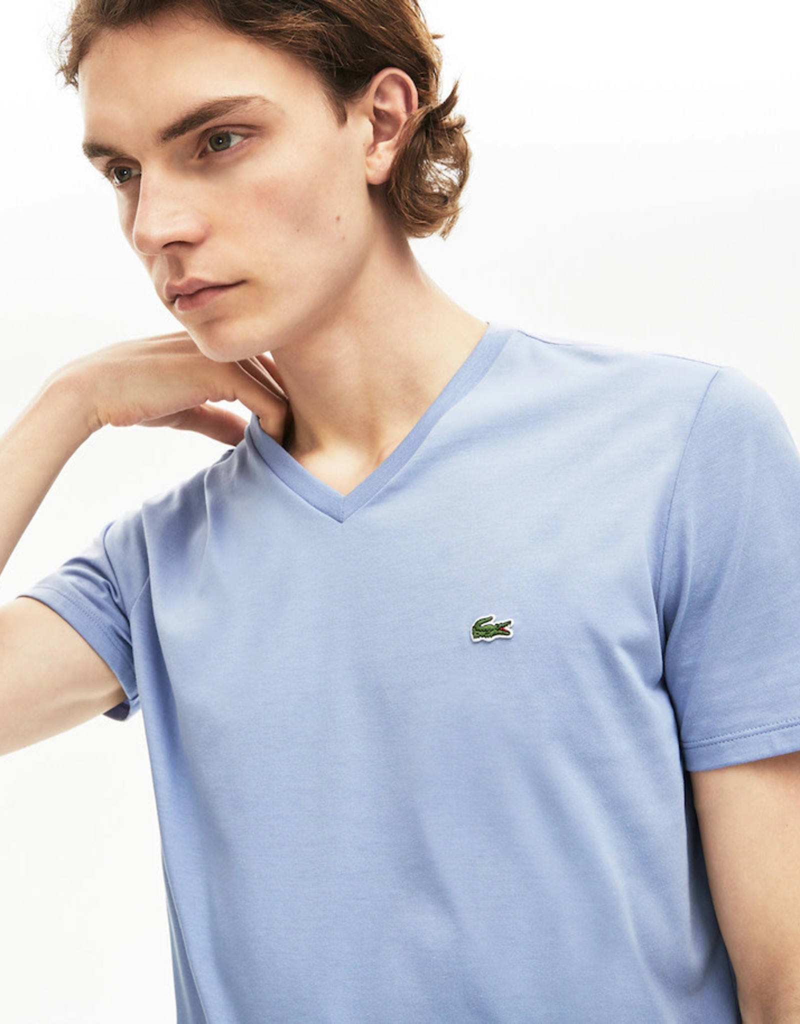Lacoste Lacoste V-Neck Pima Cotton T-Shirt