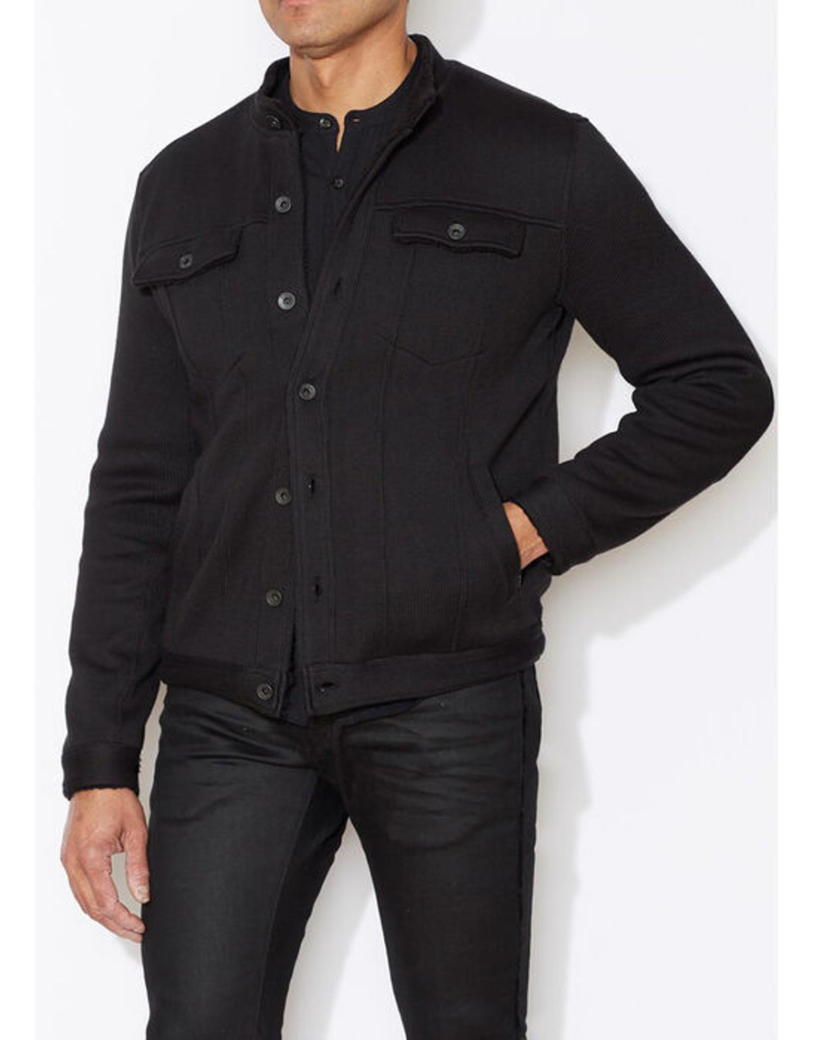 John Varvatos John Varvatos Sherpa-Lined Knit Jacket