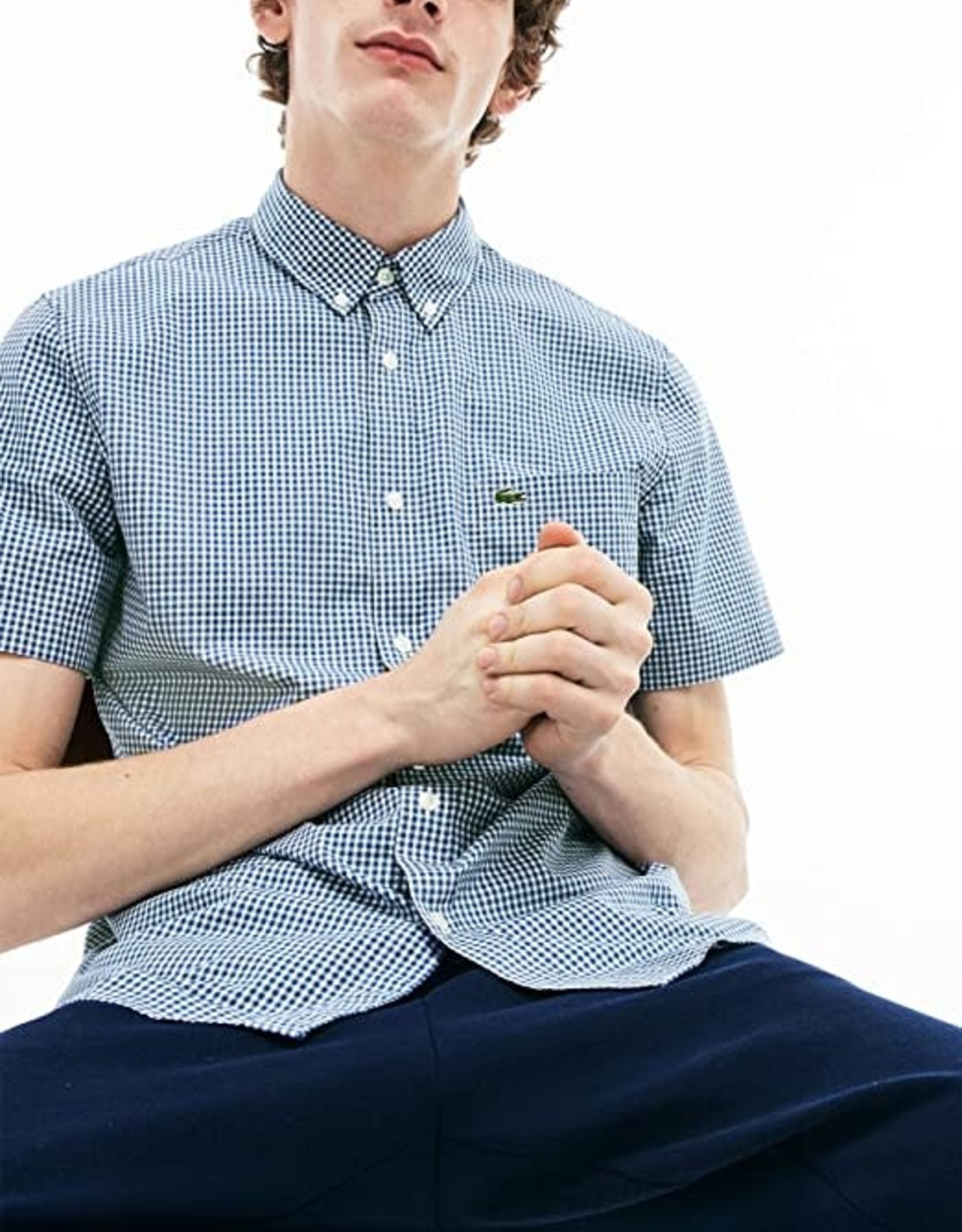 Lacoste Lacoste S/S Gingham Check Sport Shirt