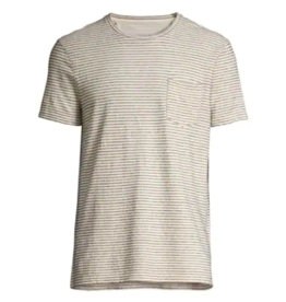 John Varvatos John Varvatos Striped Pocket Crew Neck