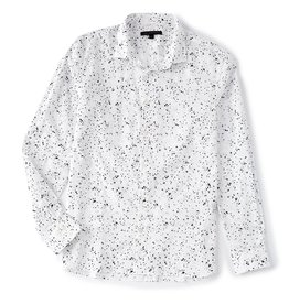 John Varvatos John Varvatos Paint Splatter Button Shirt