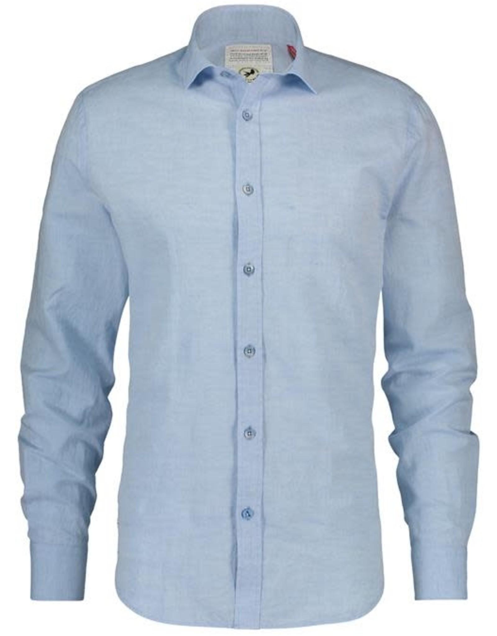 A Fish Named Fred AFNF Shirt Blue Linen