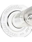 Hoss Glass Embossed Base Straight Tube