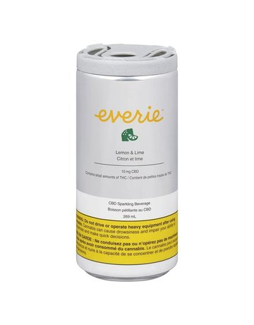 Everie Lemon & Lime CBD Sparkling Water