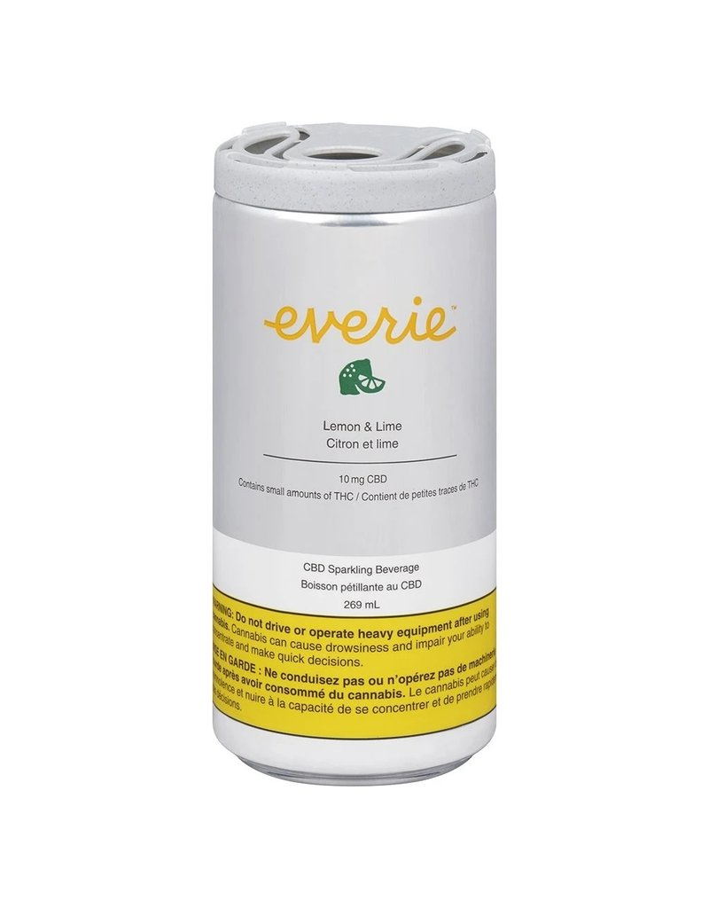 Everie Lemon & Lime CBD Sparkling Water