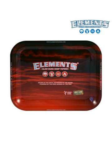 Elements Red Rolling Tray