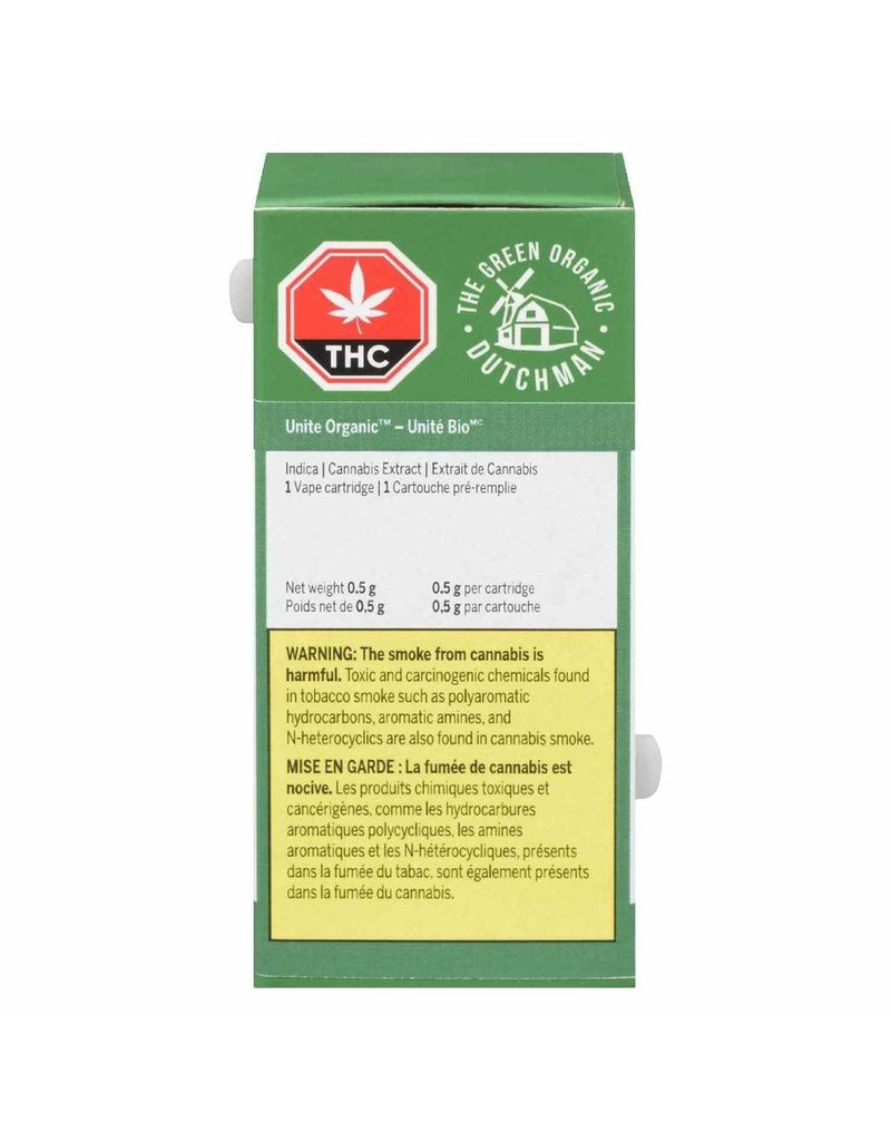 The Green Organic Dutchman Unite Organic 510 Cartridge