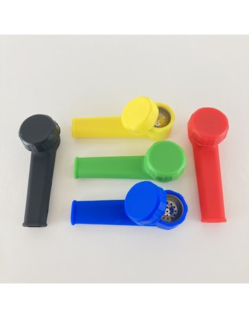 Unbranded Silicone Pipe with Metal Screen Bowl
