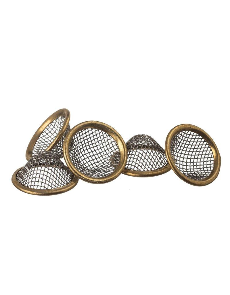 Unbranded Brass Ringed Basket Screens (5pack)