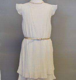 Mayoral Dress Ivory Pleats w-belt sizes 8 - 16
