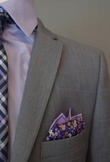Andrew Marc Suit Grey  w-lt blue windowpane