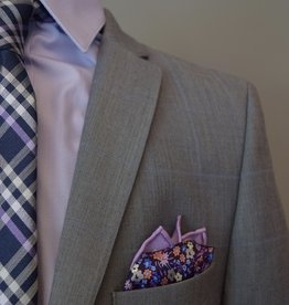 Andrew Marc Suit Grey w-lt blue windowpane