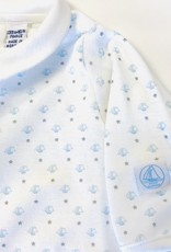 Petit Bateau Footie Lt blue Mini Sailboat with Collar PetitBateau