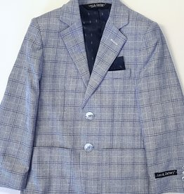 Leo and Zachary Blazer Lt blue plaid
