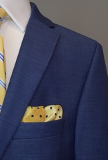 Andrew Marc Suit Navy Blue Basket Weave