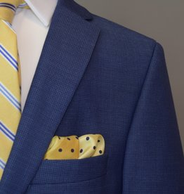 Andrew Marc Blue Basket Weave Suit
