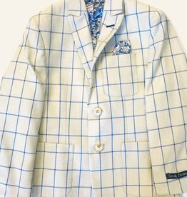 Leo and Zachary Blazer Beige w-Blue Windowpane