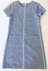 Luli Embroidered Chambray Dress