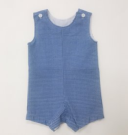 Funtasia Blue Check Shortall 3m-4T