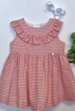 Purete Coral Stripe Voile Dress