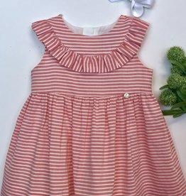 Purete Coral Stripe Voile Dress 6m-36m