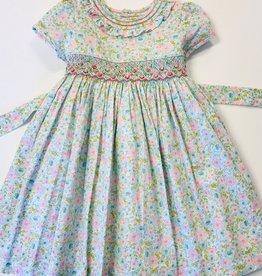 Luli Smocked Rose Print Dress 4t-10y