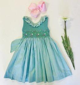 Luli Gingham Smocked Dress 2T-10y