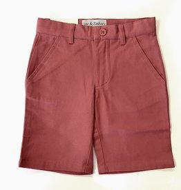 Leo and Zachary Short salmon Twill