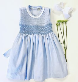 Boutique Collection Ltblue Pique Smocked Dress 3m-6x