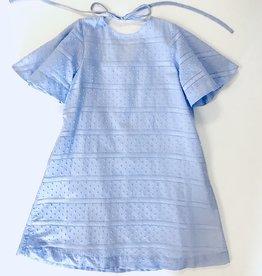 Gabby Blue Swiss Dot Dress 7-16y