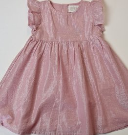 Creamie Pink Metallic Dress 12m-4y