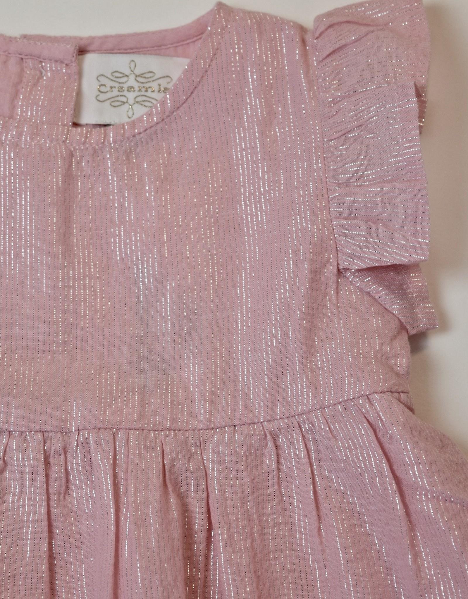 Creamie Pink Metallic Dress